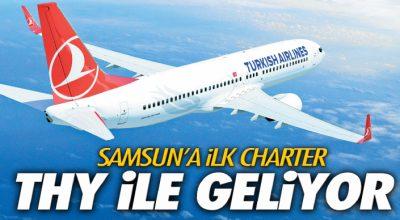 Samsun'a İlk Charter THY ile Geliyor